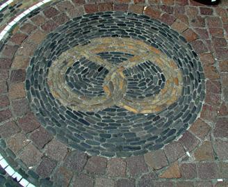 Cobblestone mosaic in Freiburg