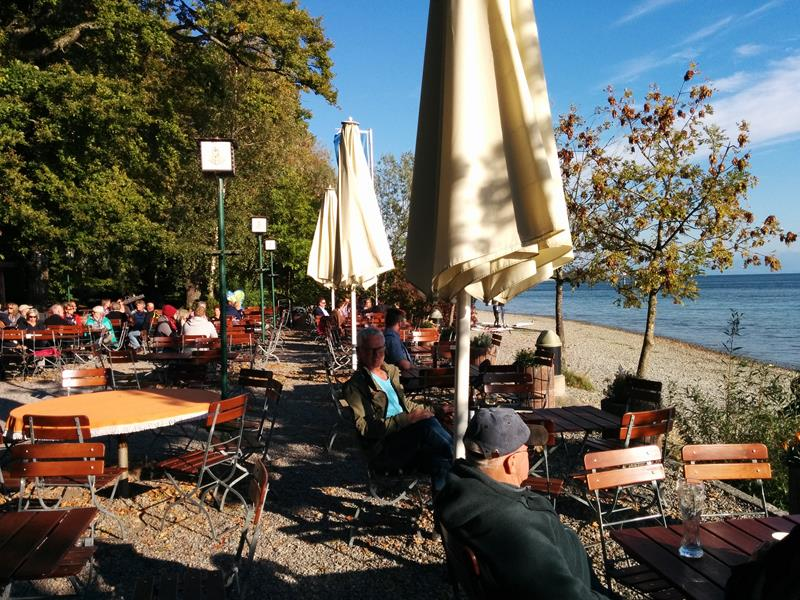 beergarden at the lake
