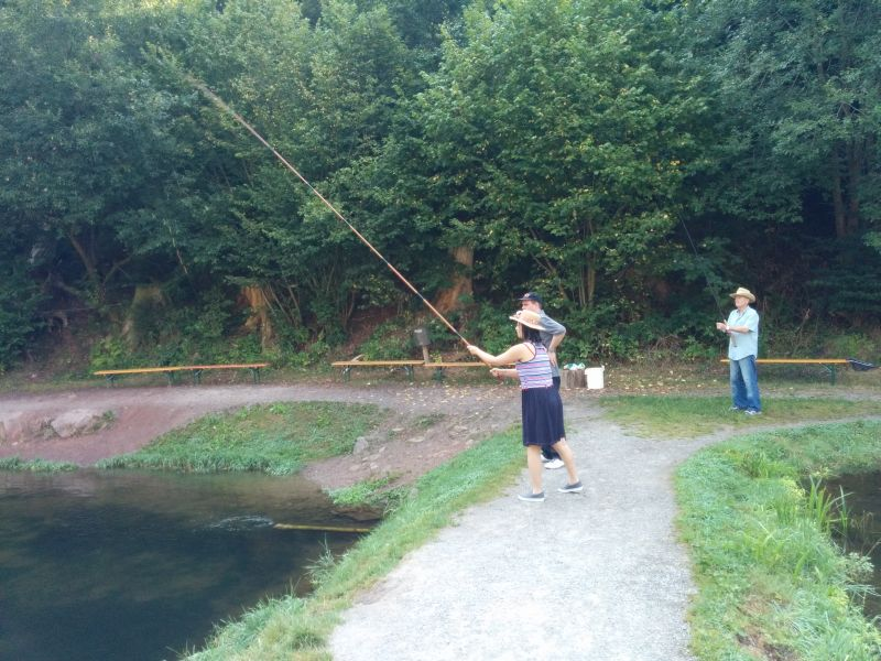 catching a fish in the black forest