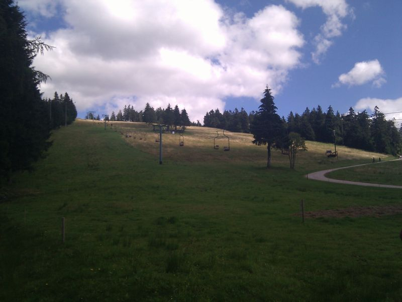 Chair lift in the Northern Black Forest