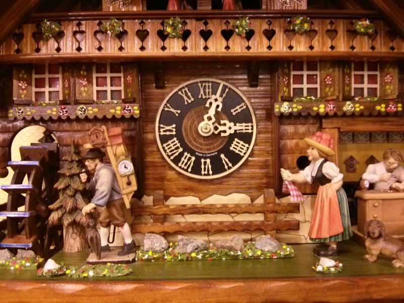 Close look at a cuckoo clock