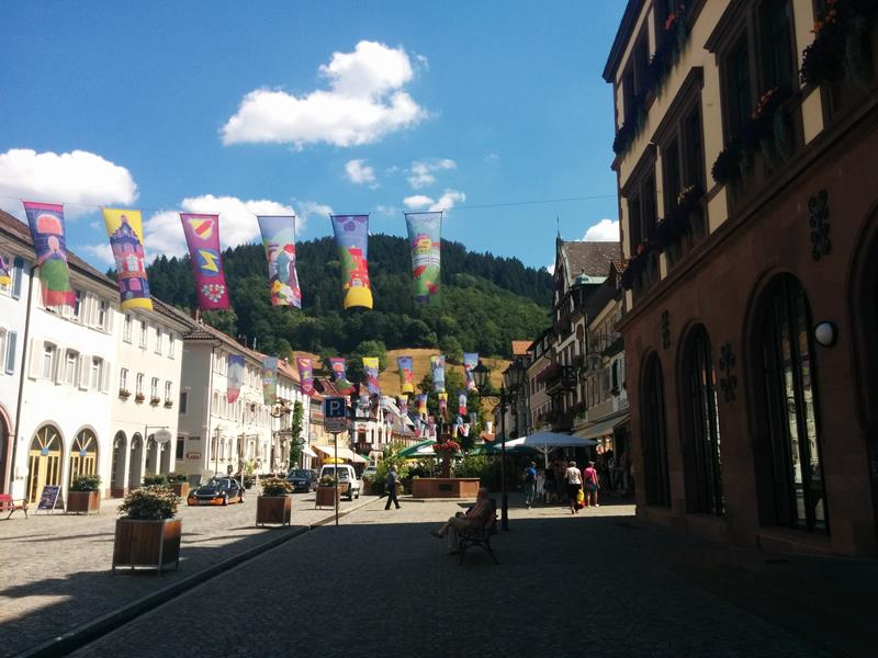 decorated black forest town