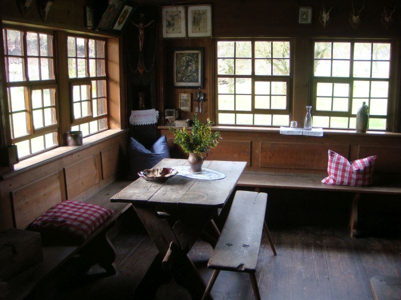 dining room at the farmhouse