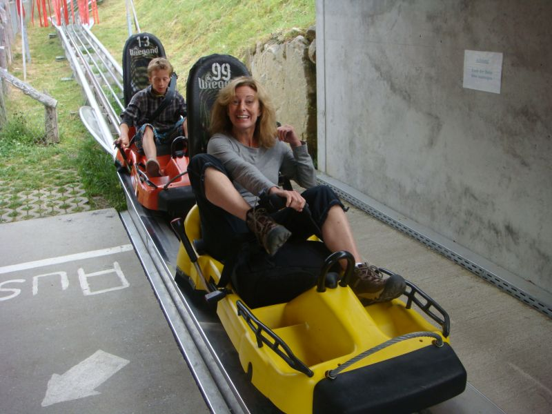 Have some fun taking a luge ride!