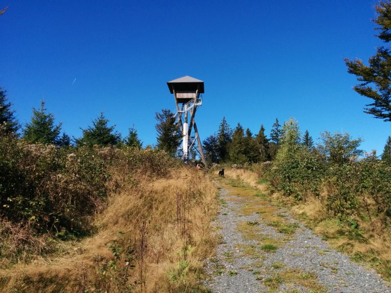 Hike to the sightseeing tower