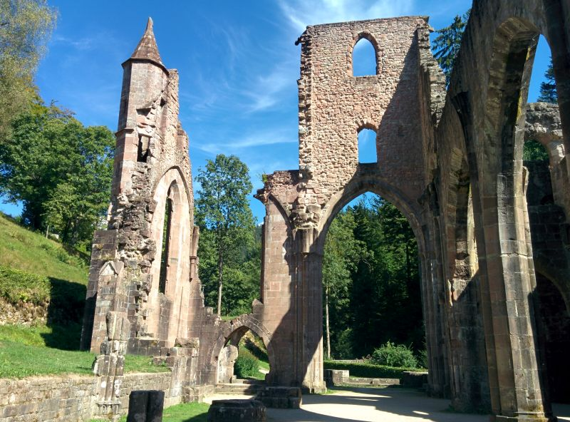 monastery ruin black forest