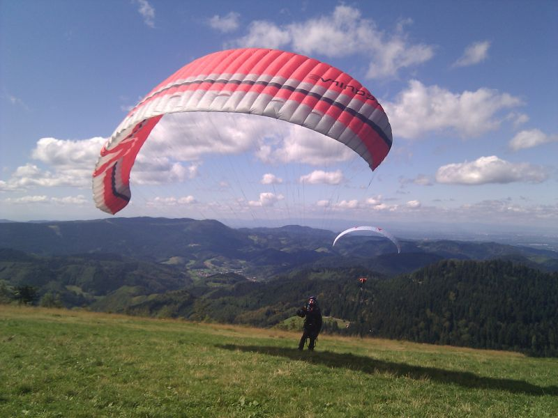 paragliding in the black forest