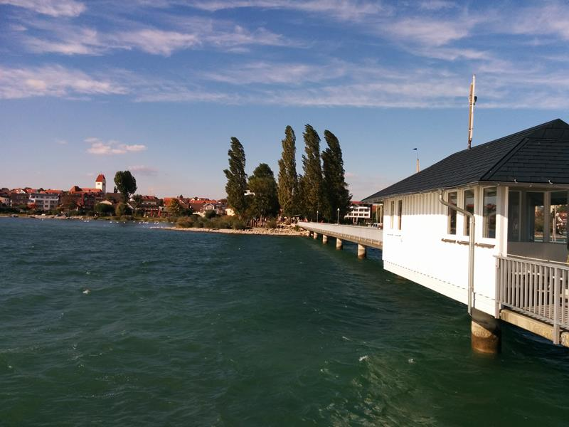 seaside town at lake constance