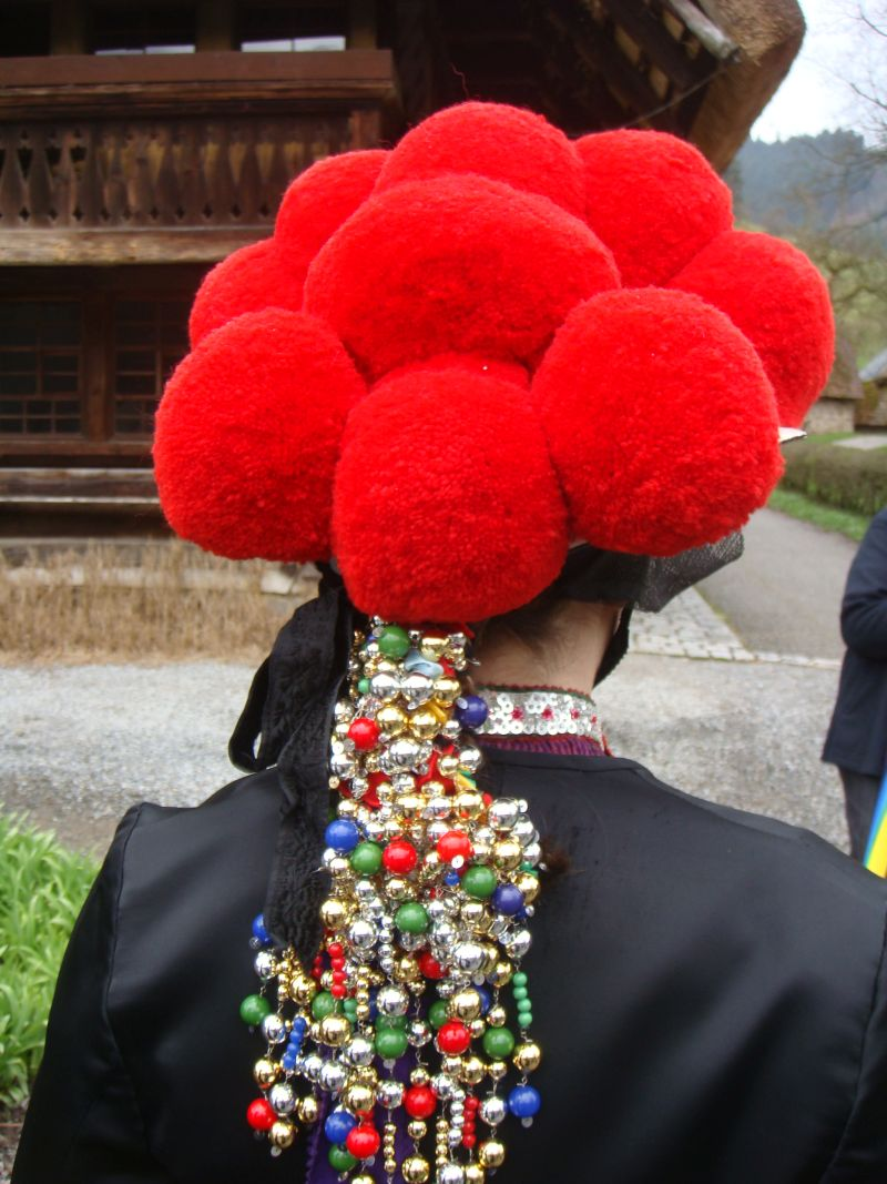 Traditional costume at the farmhouse