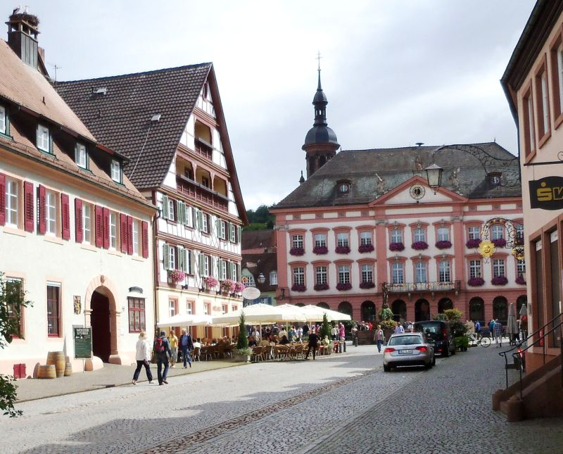 typical street in medieval town