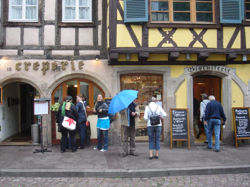 Typical street scene in Colmar