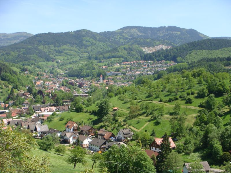 Typical valley in the Black Forest