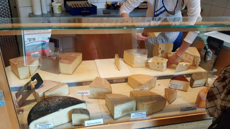 Visiting a local cheese shop outside of Füssen